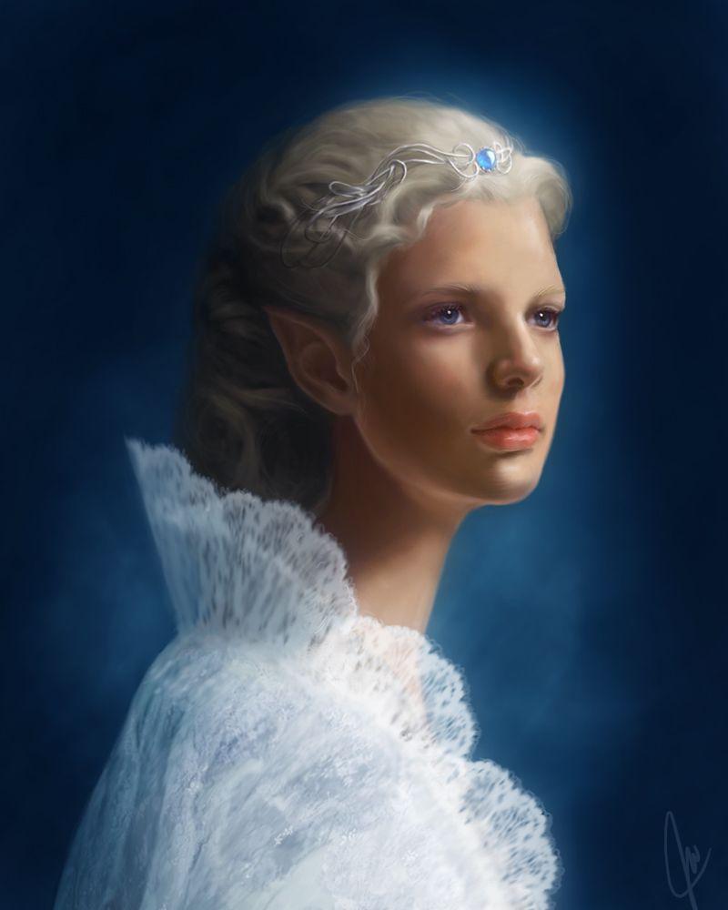 Telerin elf-maiden by ~moon-blossom on deviantART