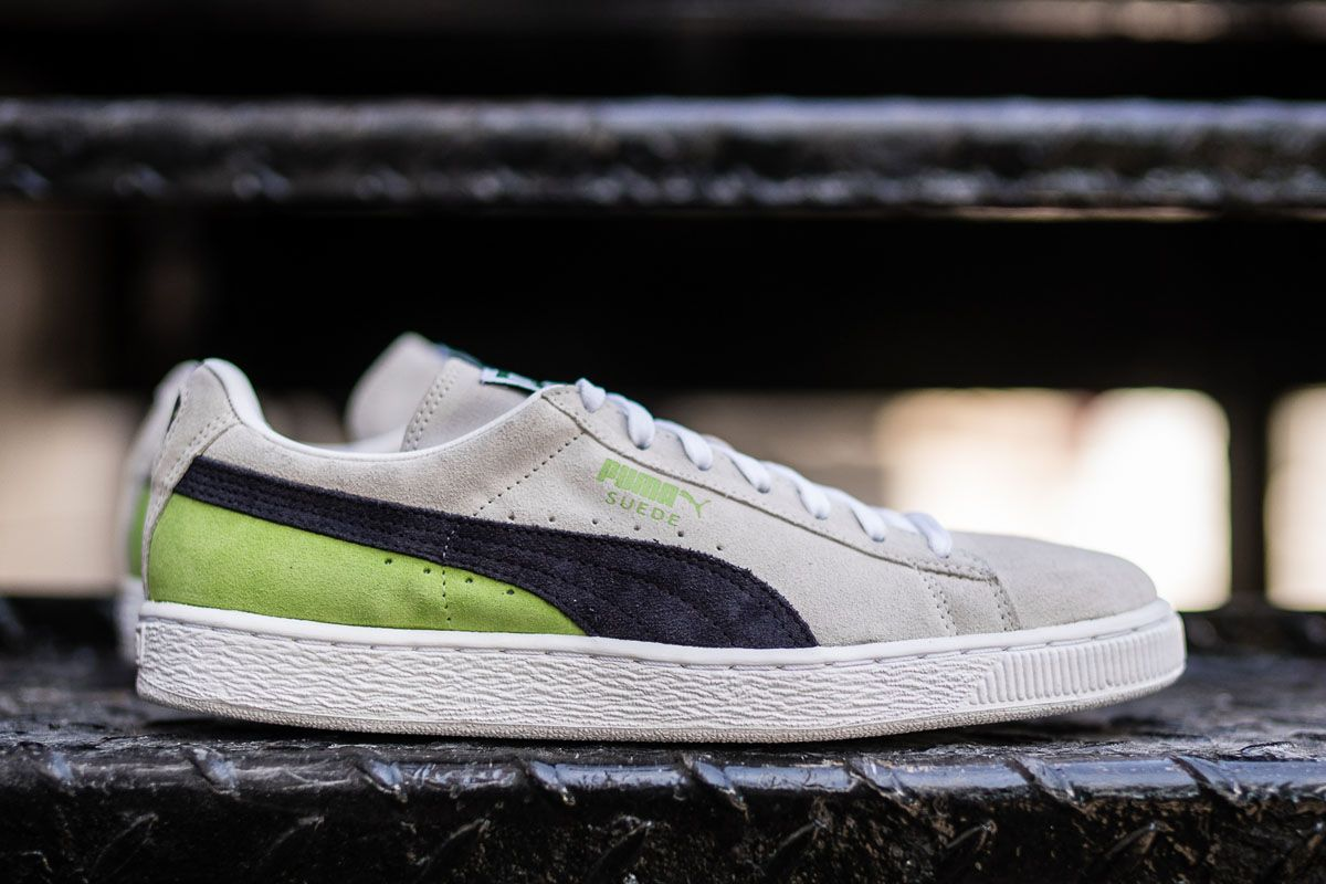 Details about puma womens suede classic rg black running shoes - Puma Suede Classic Blocked Jasmine Green
