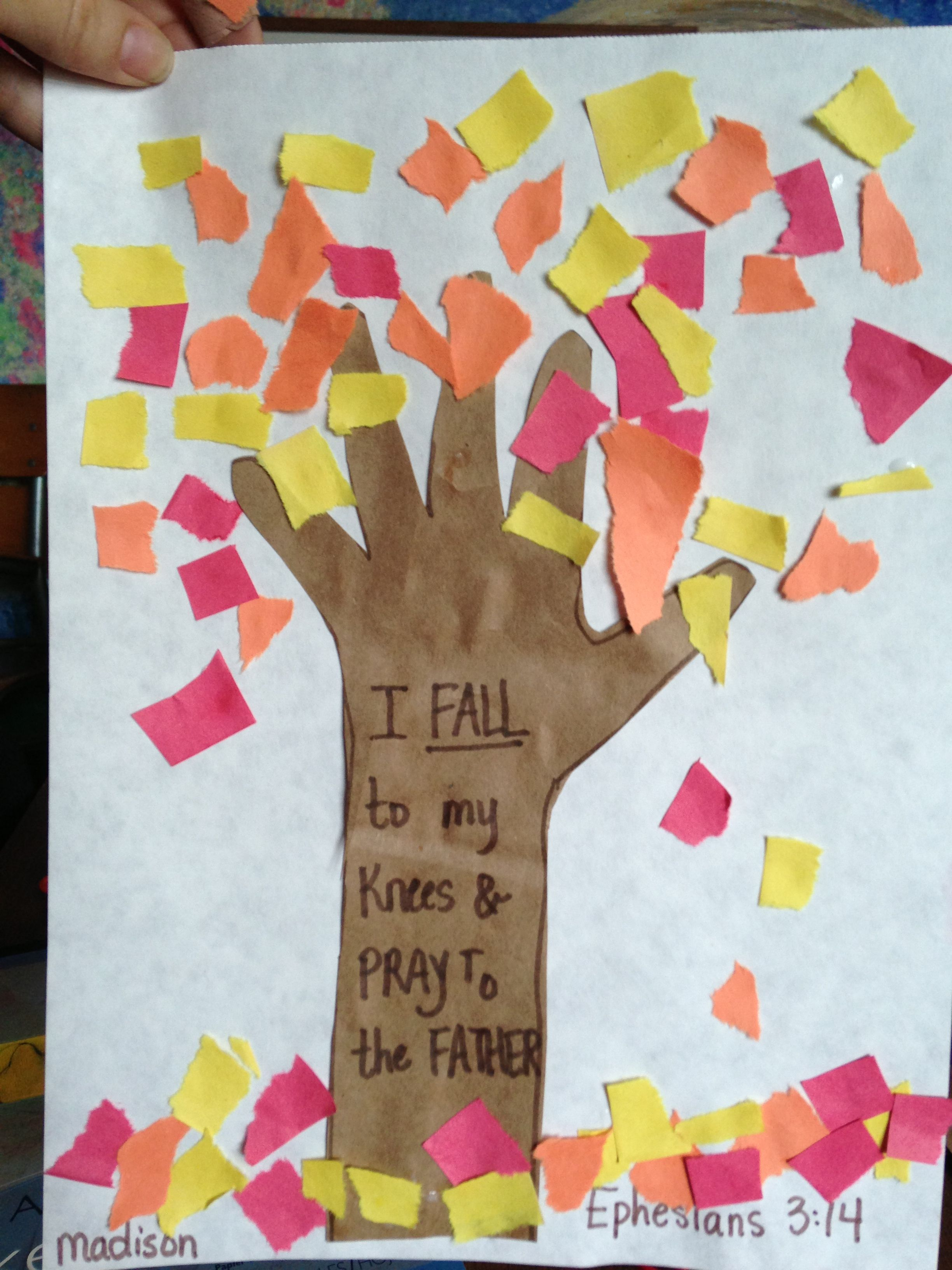 surprising Fall Craft Preschool Part - 6: Fall craft...without the religious stuff. With all the different opinions  in daycare, we try and stay away from that.