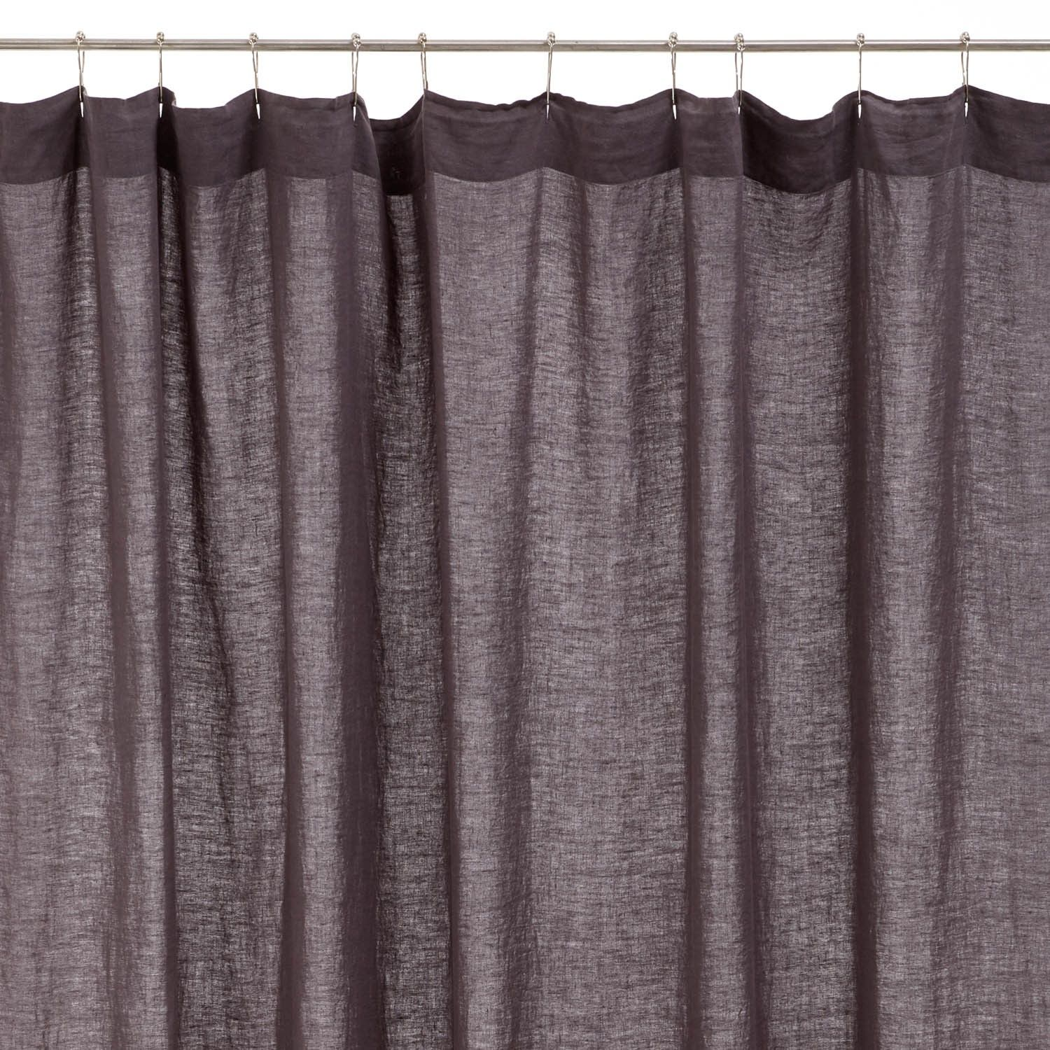 Lissoy Graphite Linen Shower Curtain Cool Shower Curtains