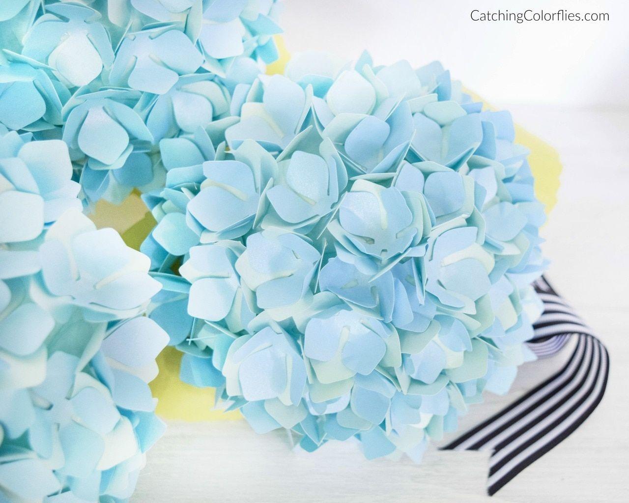 Hydrangea Paper Flower Templates Paper Flower Patterns Paper Flowers Paper Flowers Diy