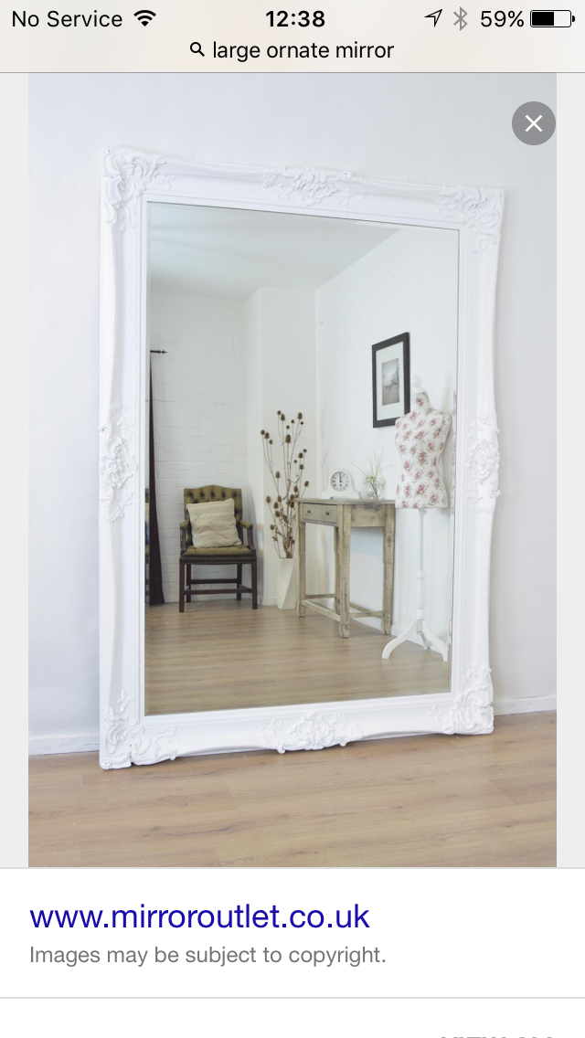 Pleasant Large Floor Standing Ornate Mirror For The Home Shabby Interior Design Ideas Gentotryabchikinfo