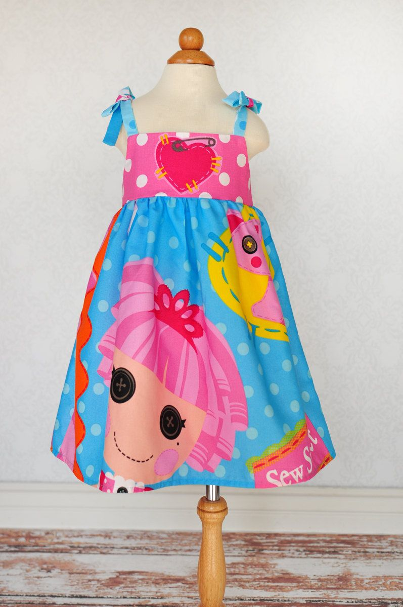 Dress for my youngest birthday girl. Lalaloopsy Dress, LalaLoopsy Ruffle Dress, Jewel Sparkle . $44.00, via Etsy.