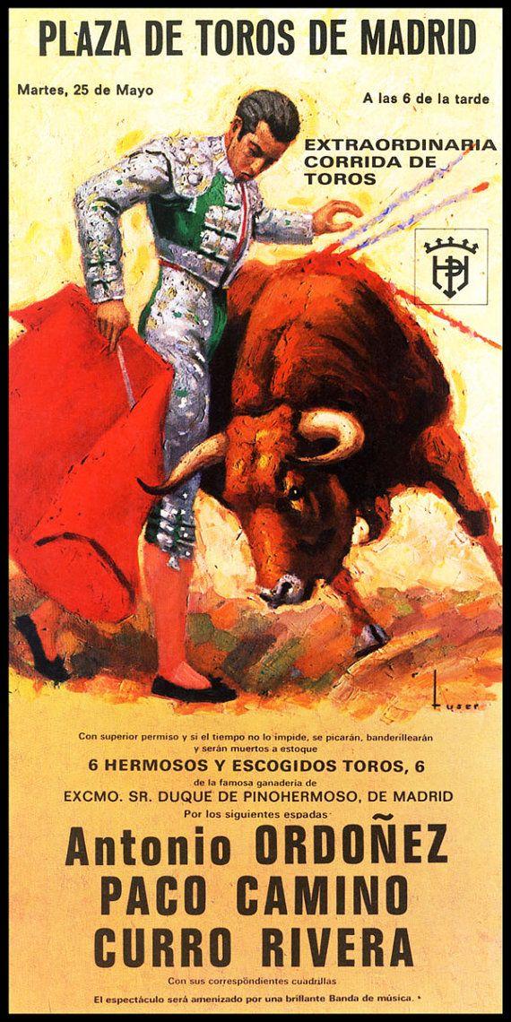 "Bullfighting Plaza Mexico #10 Canvas Art Poster 12/""x 24/"""