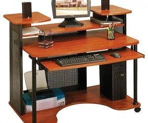17 Appealing Multi Level Computer Desk Picture Ideas Wood