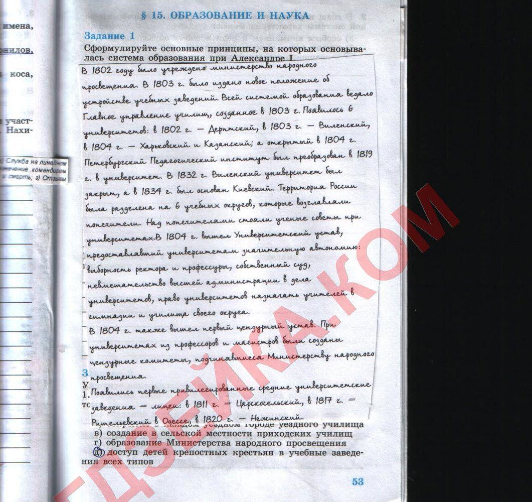 Гдз по истории к учебнику класса а.данилова