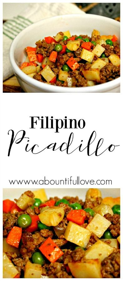 Filipino Picadillo | Picadillo recipe, Filipino and Budgeting