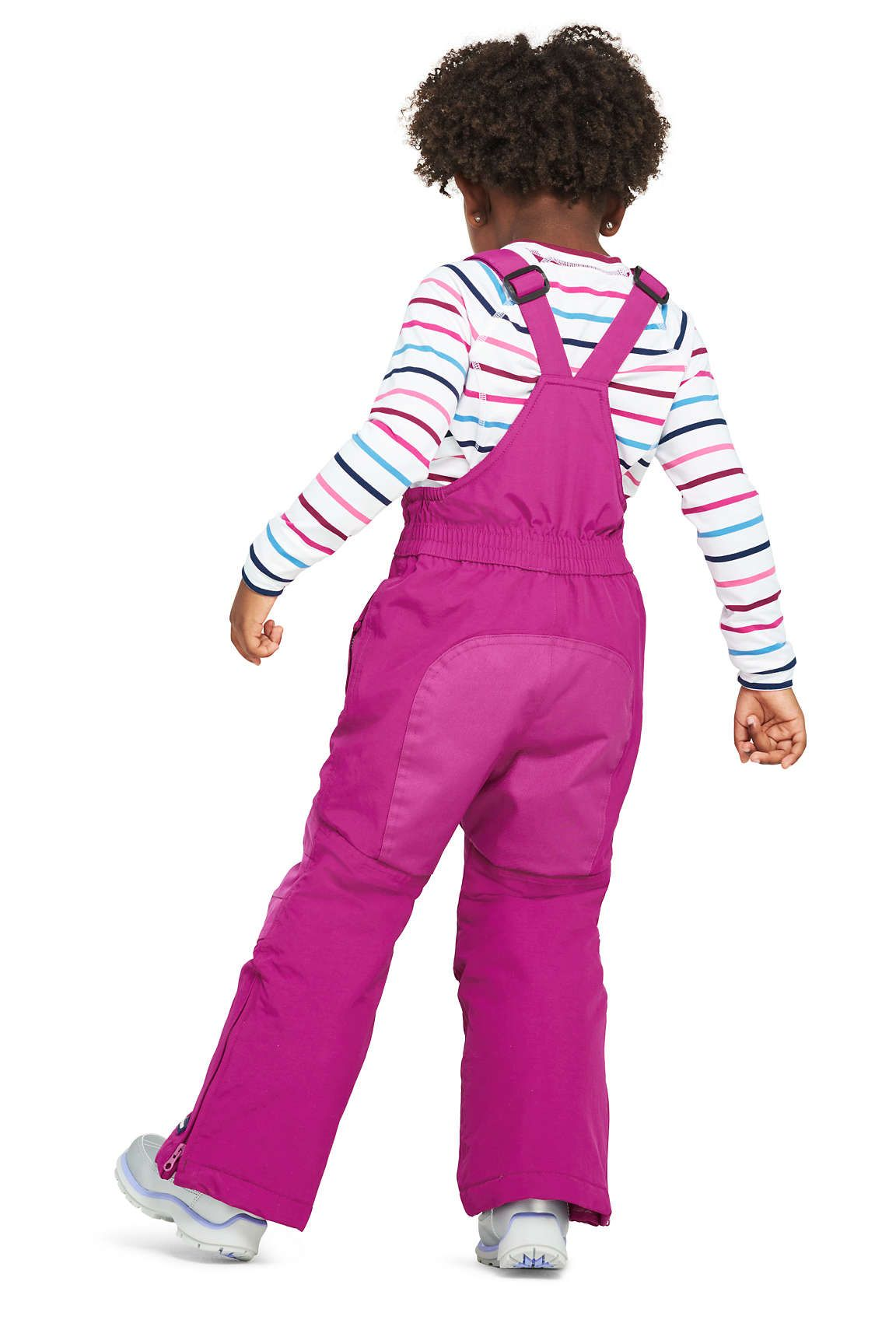 2294105a10ab Girls Squall Waterproof Iron Knee Snow Bibs from Lands  End
