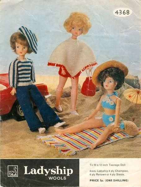 Vintage Sindy Knitting Patterns Tricot Poupe Mannequin