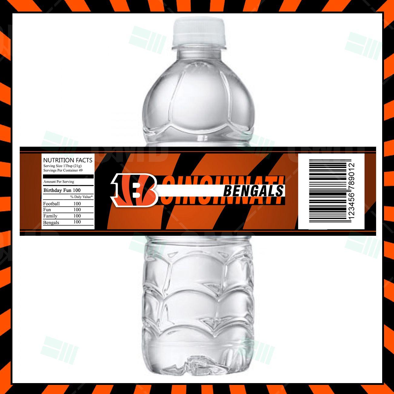 Cincinnati Bengals Football Bottle Labels