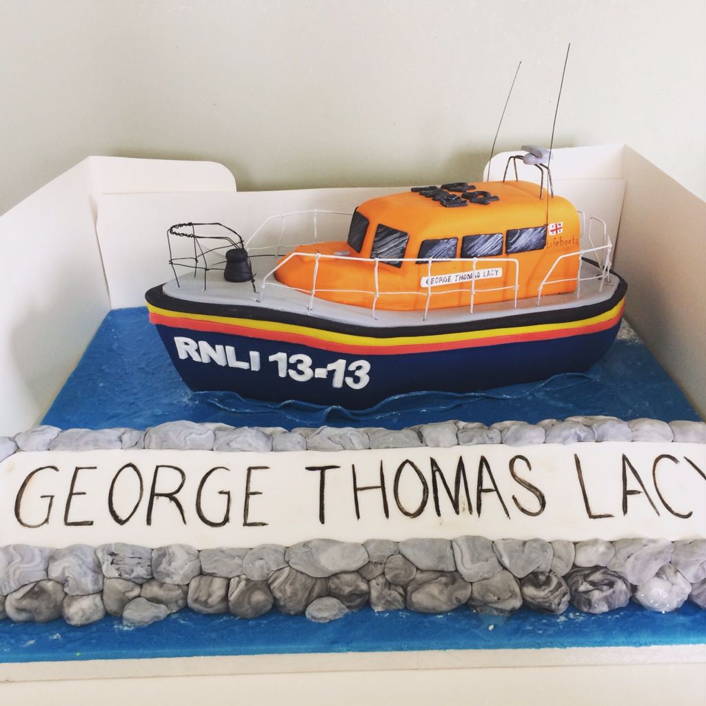 Shannon Class Life Boat Cake D Lifeboat Cake Carved Boat Cake - Boat birthday cake ideas