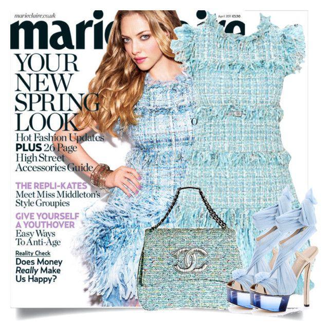 """Amanda Seyfried"" by sally92 on Polyvore featuring moda, Chanel, Fendi, Amanda, colorchallenge, Spring2017 e pastels2017"
