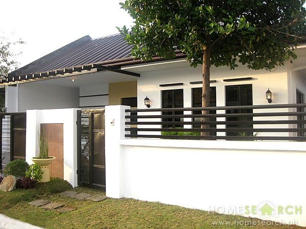 Simple Modern Gate Design Google Search Bungalow House Design Modern Minimalist House Small House Design Philippines