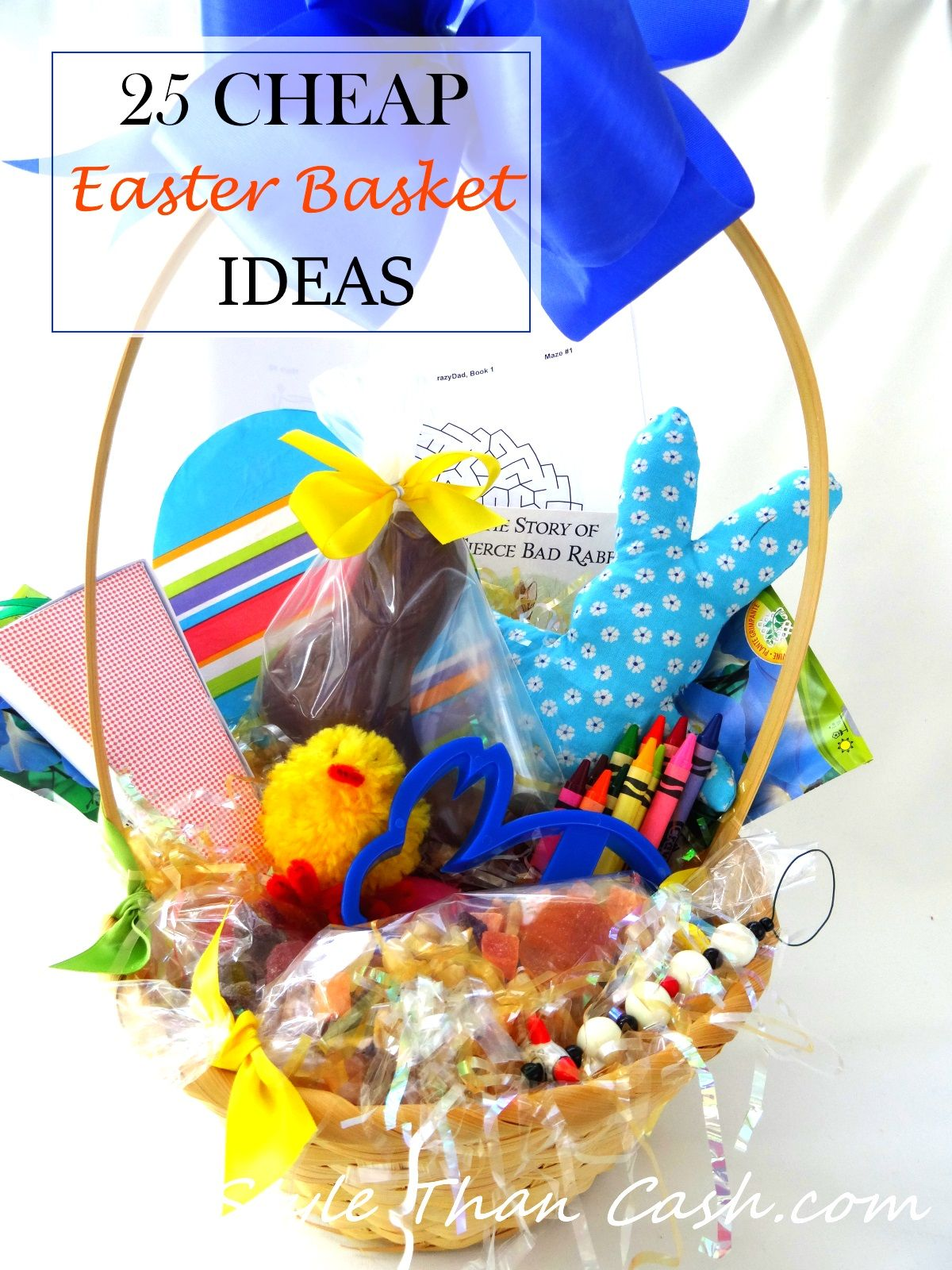 25 cheap easter basket ideas the secret kid and gifts 25 cheap easter basket ideas that dont look cheap great ideas for the negle Choice Image