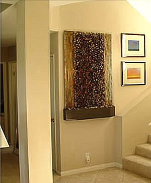 River Rock Custom Wall Mounted Waterfall Waterfall Wall Indoor