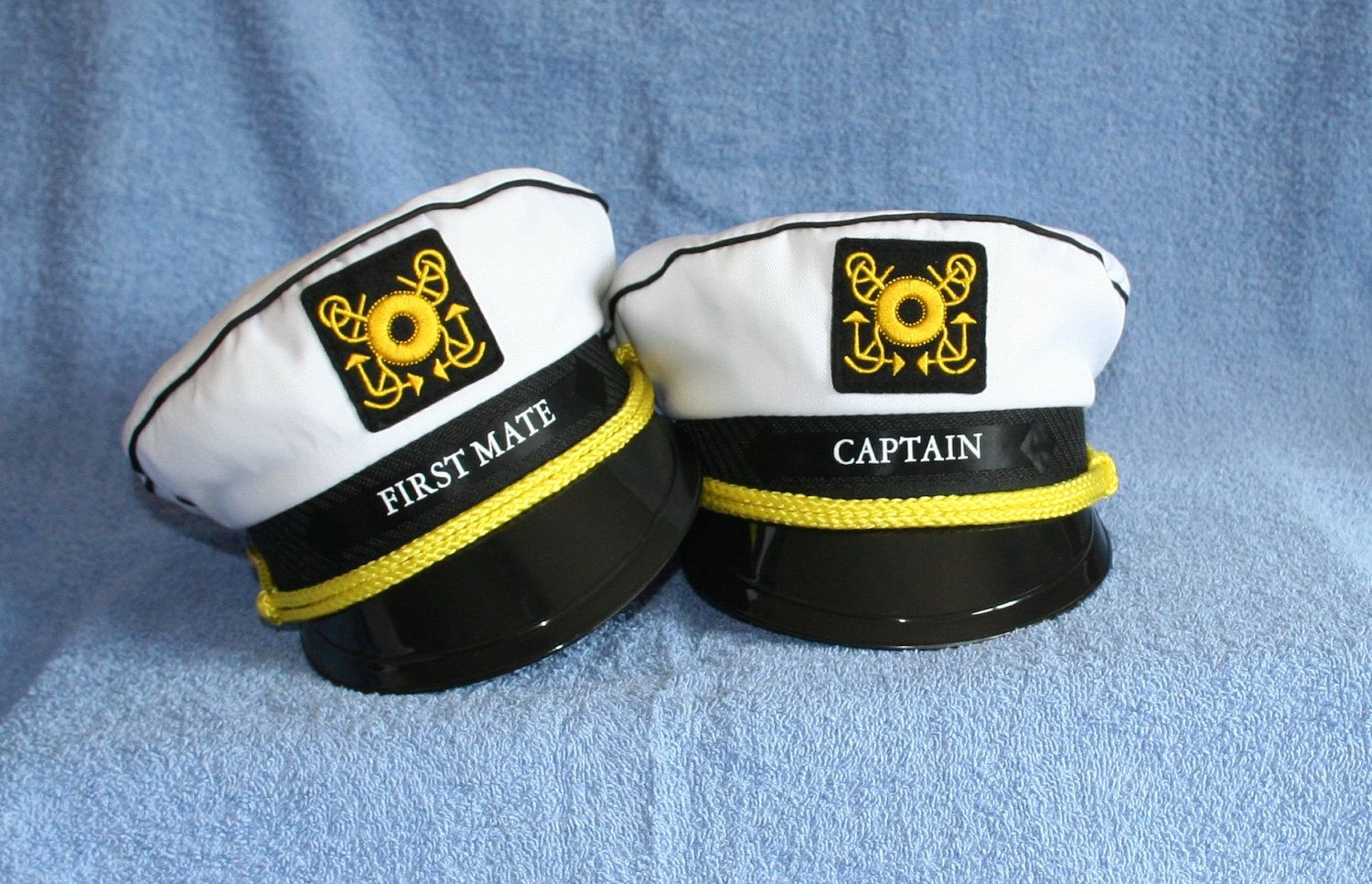 08ce6628487 Set of two Yacht CAPTAIN S HATS  Personalized