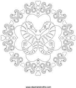 Mandala Seahorse Coloring Page Pdf Download