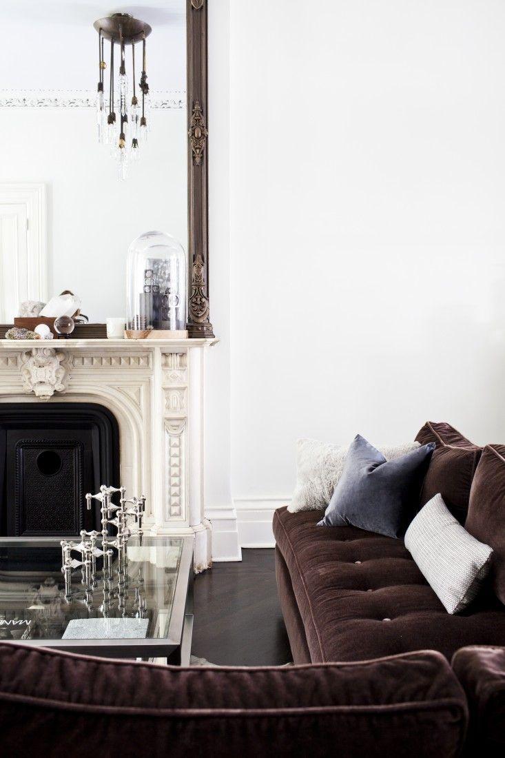 White sofa and purple velvet cushions? switcheroo | Just Velvet Love ...