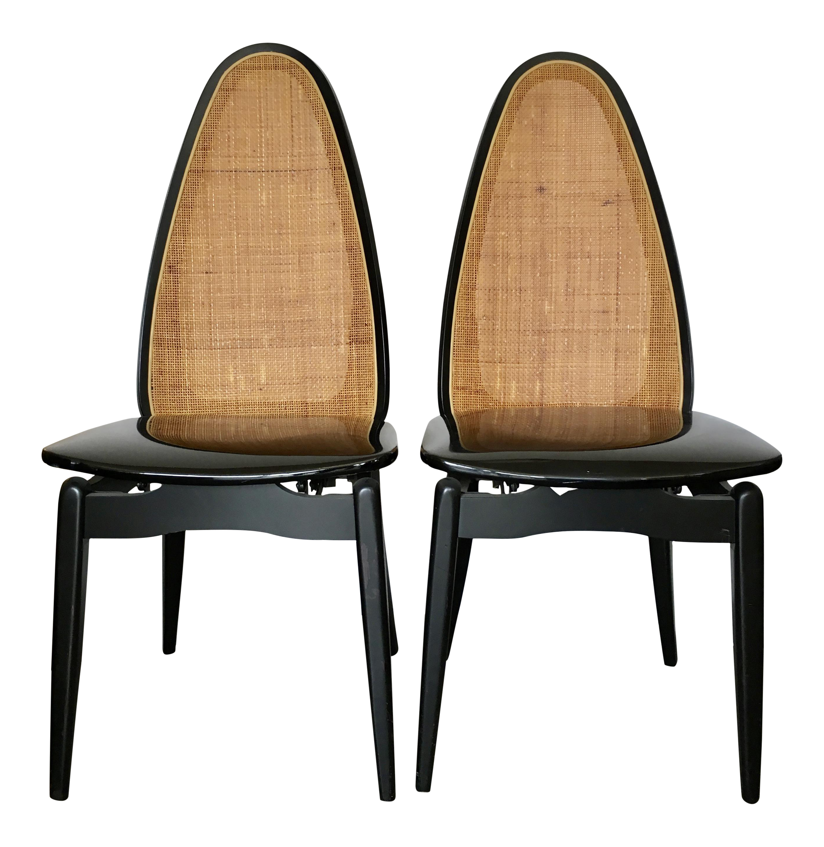 Stakmore Mid Century Folding Chairs A Pair