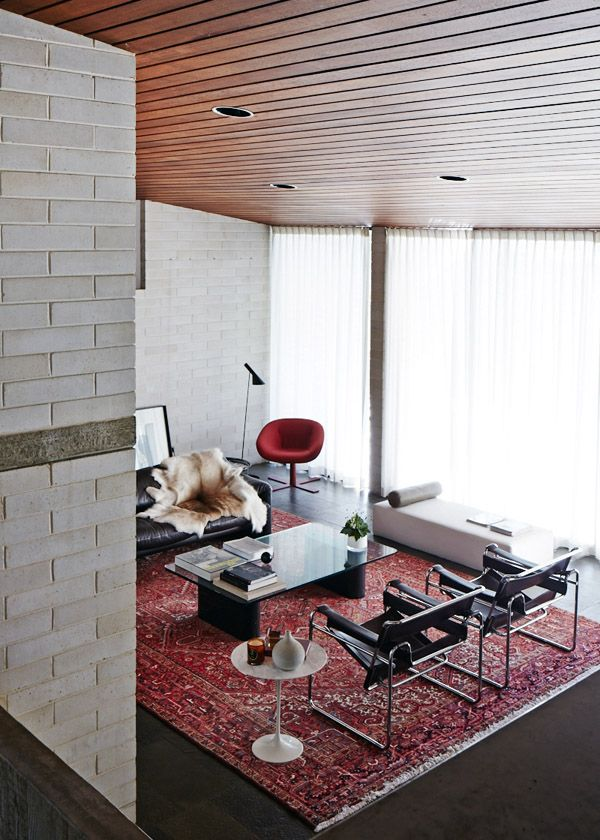 Two Wassily Chairs In A Sydney Australia Home The Bright Rug Makes Modern ChairModern Living RoomsLiving Room IdeasLiving