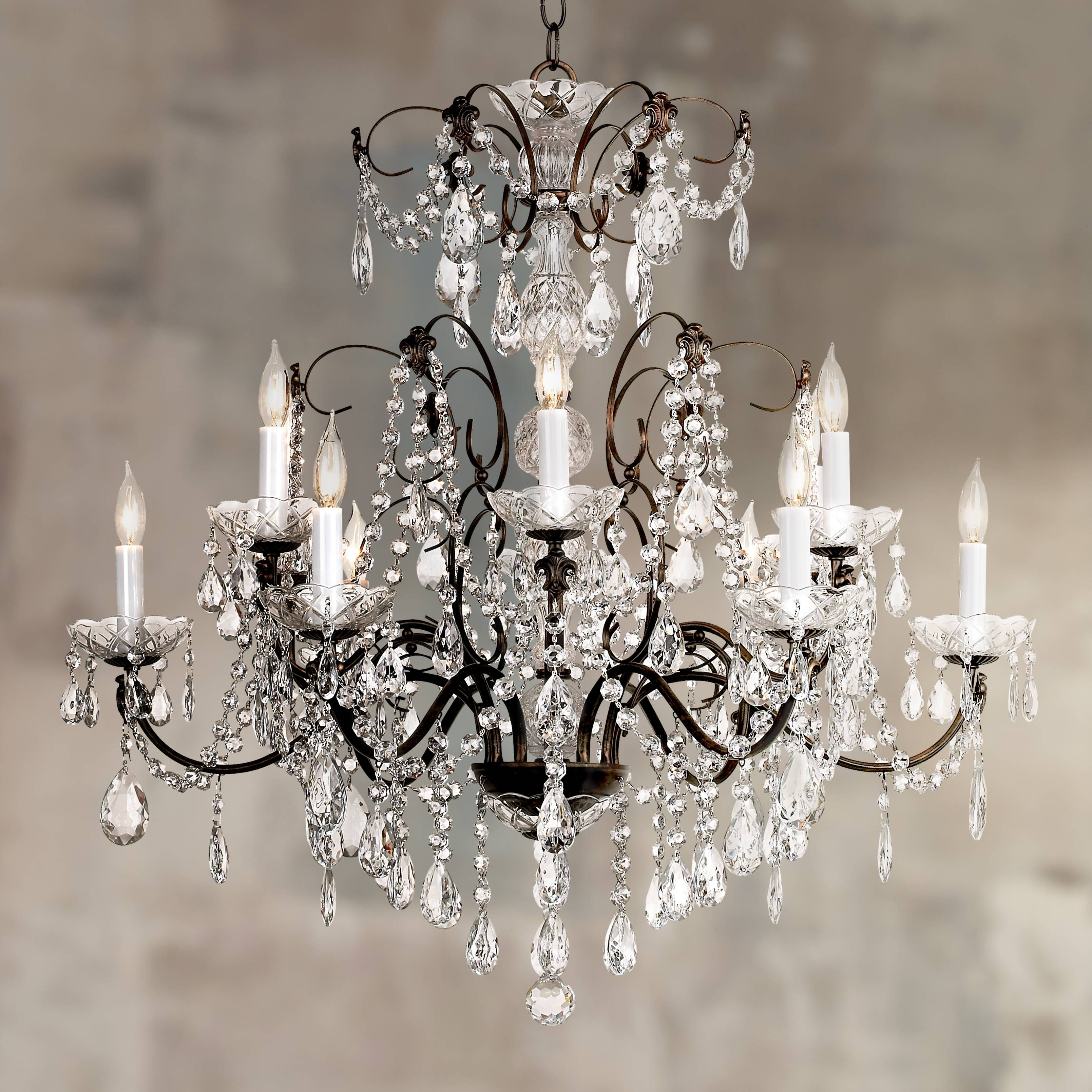 Schonbek Madison Twelve Light Heritage Crystal Chandelier 94681 Lamps Plus
