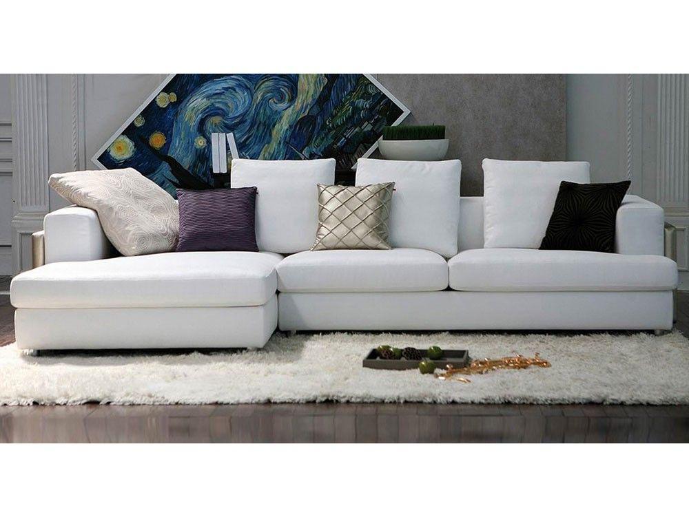 Un Canapé Dangle En Tissu Irrésistible Qui égayera à Coup Sûr Votre - Canapé blanc tissu