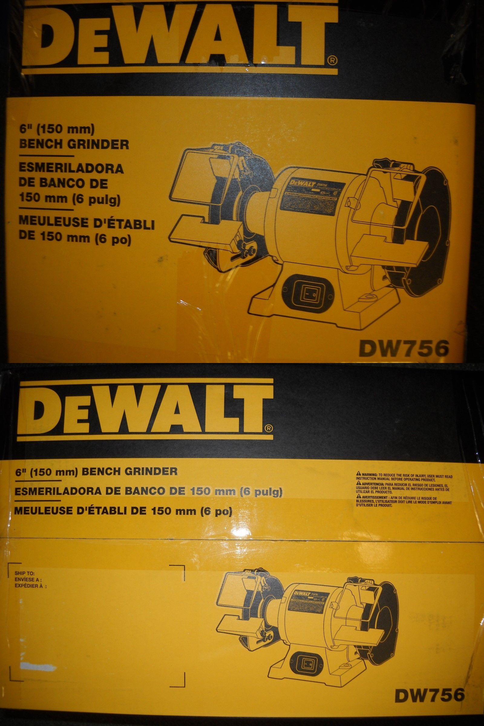 Dewalt 6 inch bench grinder | dw756 | ereplacementparts. Com.