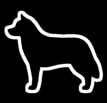 Siberian Husky Silhouette S Sticker By Jenn Inashvili Dogs