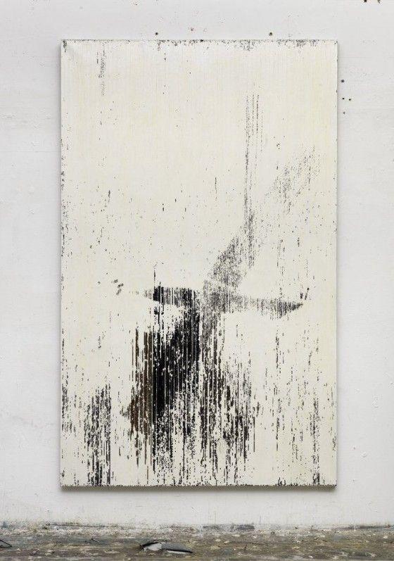 "Gregor Hildebrandt – ""1:1 ist jetzt vorbei (Trickser IV Toco)"", 2013 – Cassette tape and dispersion on canvas – 209 x 129 cm"