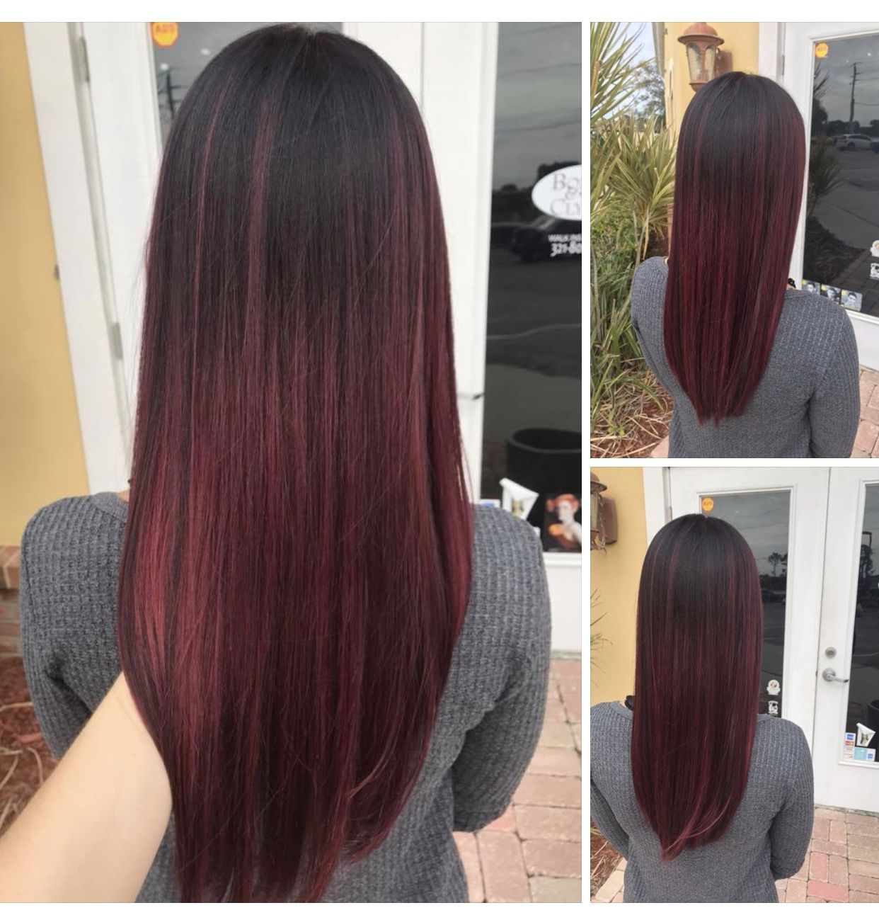 Love my new red / purple hair color customized just for me