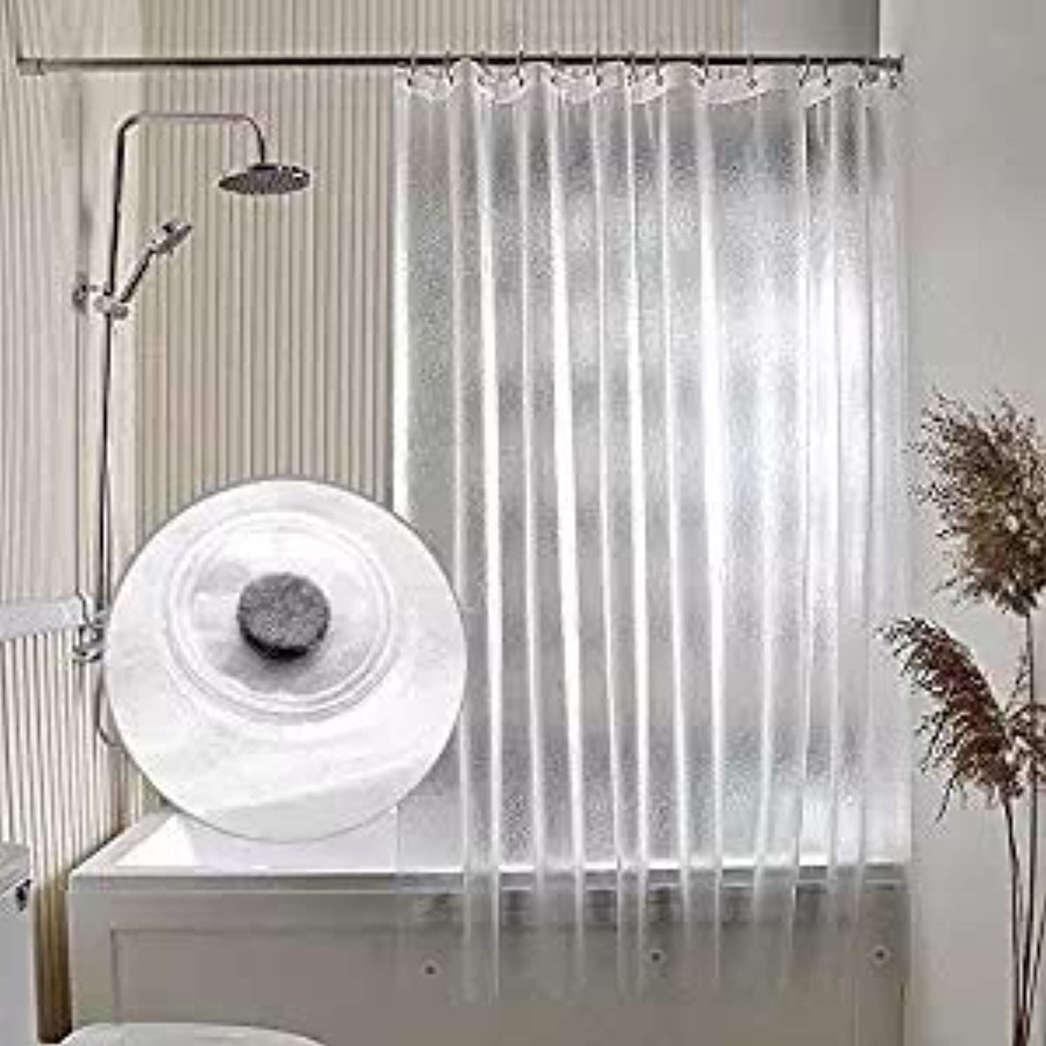 Arflee Peva Bathroom Shower Curtain Liner 15 Gauge Durable Semi