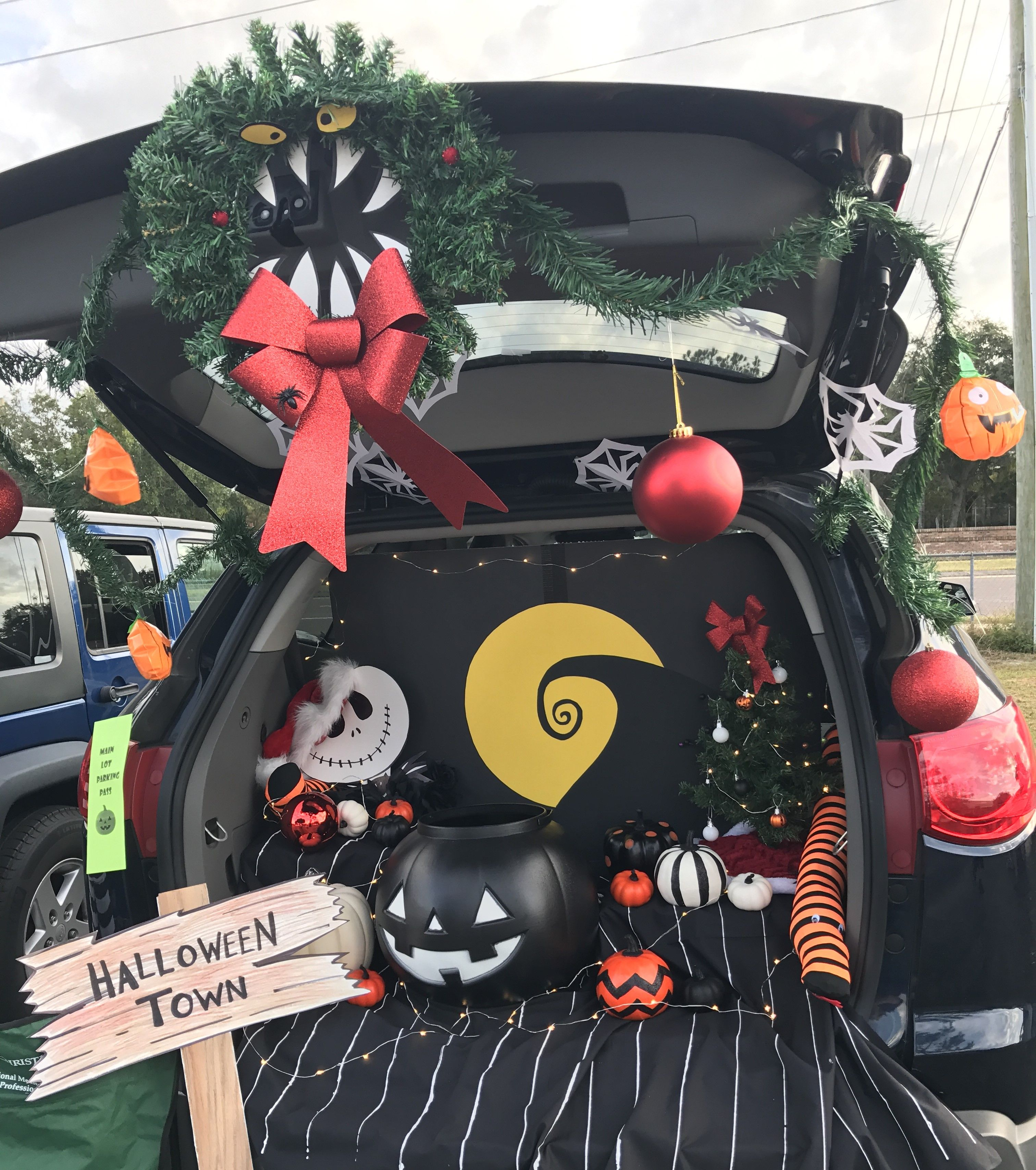 Trunk or Treat Nightmare Before Christmas ADD ZERO OR HIS GRAVE AND ...