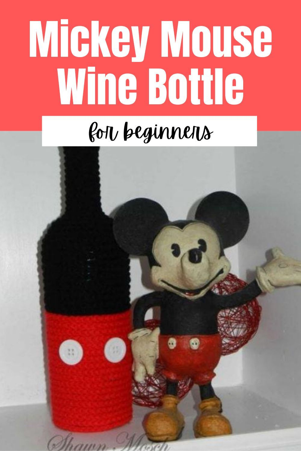 Mickey Mouse Wine Bottle In 2020 Mickey Mouse Wine Wine Bottle Crafts Wine Bottle