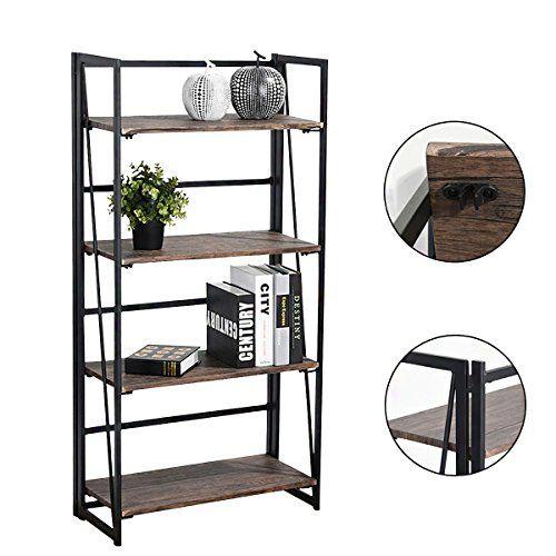 Vogue Carpenter 4 Tier Bookcase Shelf Organizer No Assem Https Www Amazon Com Dp B074mtmzl6 Ref Cm Sw R Pi Dp U X Ydkka Bookcase Shelves Shelves Bookcase