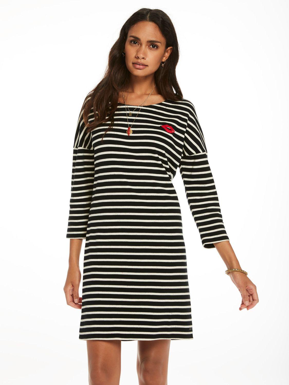 Breton Striped Sweat Dress Kleider Und Gestreiftes Kleid