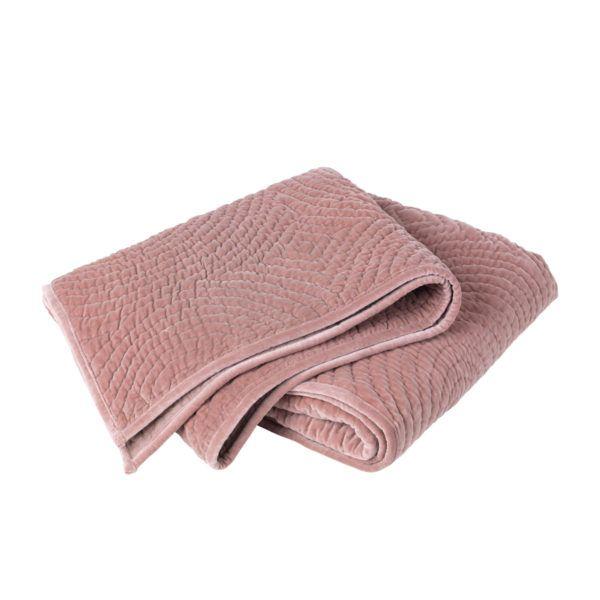 Dusty Pink Velvet Bed throw | Broste | Soverom | Pinterest | Dusty ... : pink quilted bedspread - Adamdwight.com
