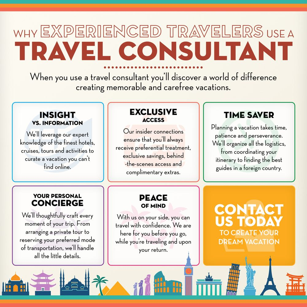 All The Great Reasons You Should Be Working With A Professional Travel Consultant Travel Agent Career Become A Travel Agent Travel Agent