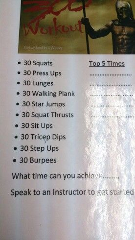300 workout from my gym! Definitely somethibg to work on and keep coming back to! #300workout