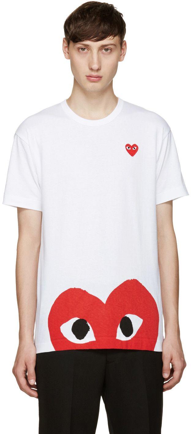 52a51746907 COMME DES GARÇONS PLAY White Half Heart T-Shirt.  commedesgarçonsplay   cloth  t-shirt
