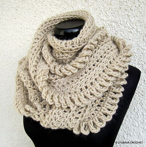Circle Infinity Scarf Unique Design Pattern By Lyubava Crochet