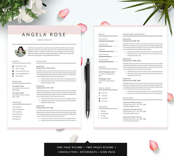 resume template - professional cv template