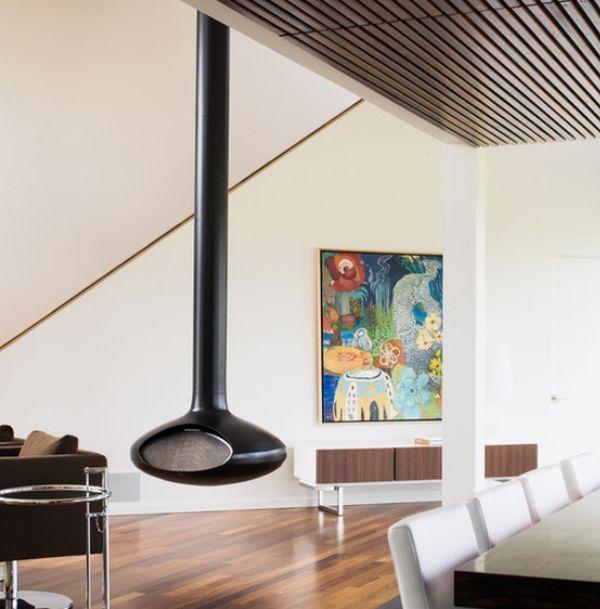 Impressive Hanging Fireplace for Modern Home: Modern Hanging ...