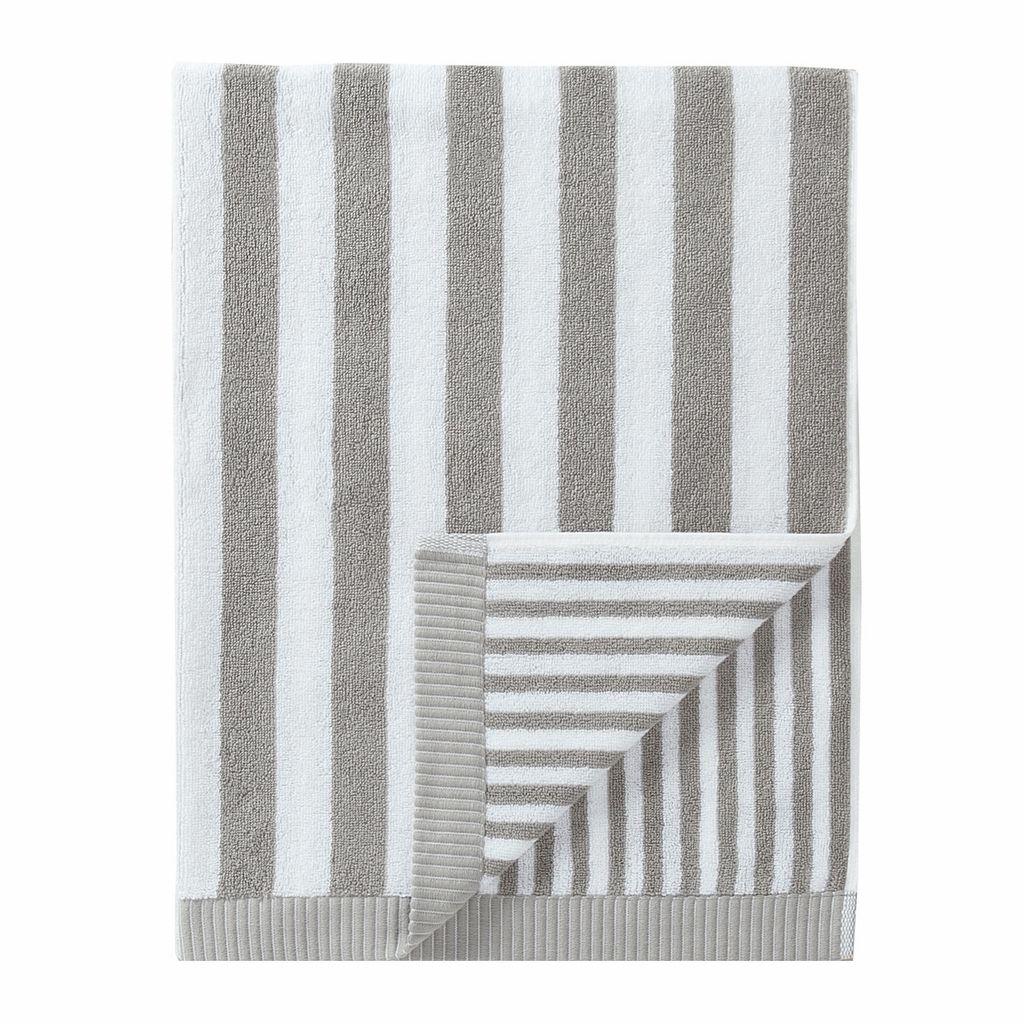 Marimekko Kaksi Raitaa Grey White Bath Towel Grey Bath Towels