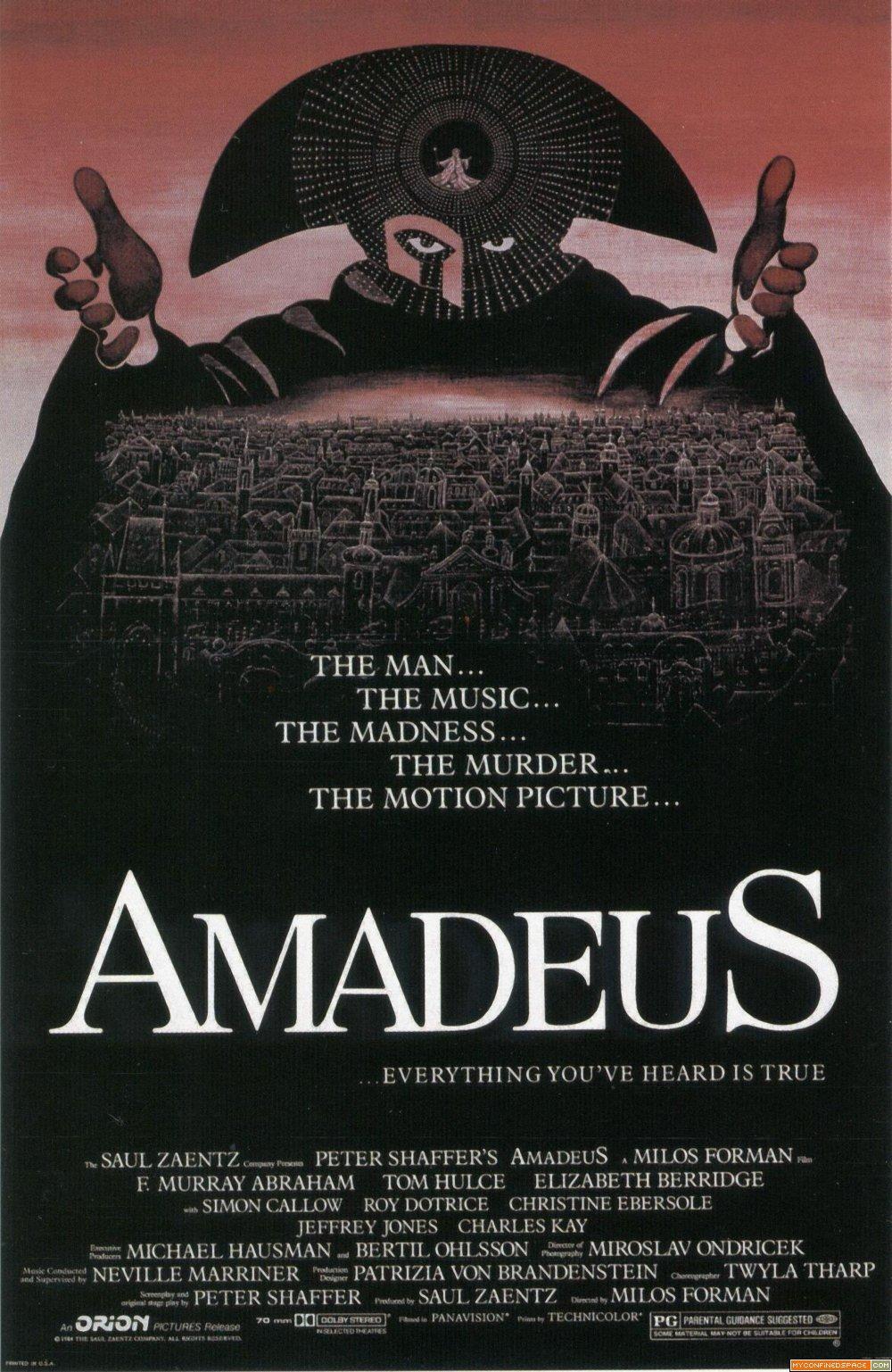 Amadeus Movie Poster Amadeus Movie Poster Posteres De Filmes