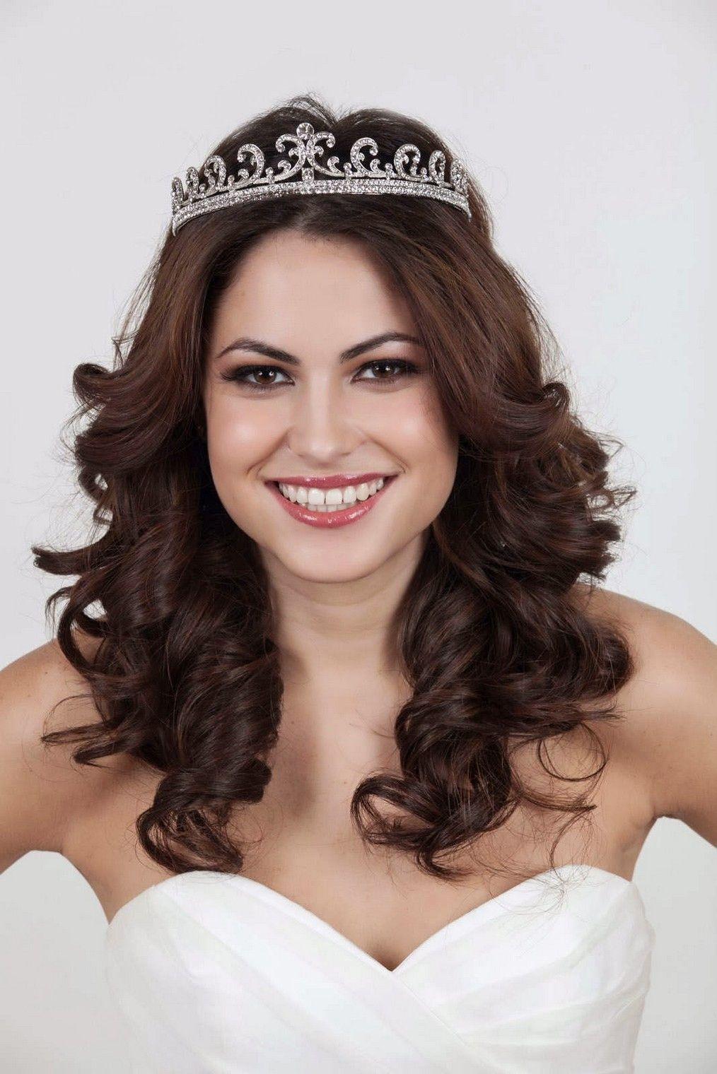 half up wedding hairstyles with tiara | mia bella bridal gallery