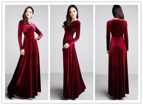 151a8b10107 2013 New Autumn Winter V Neck Gorgeous Shimmer Velvet Stretchy Long Sleeve  Dress