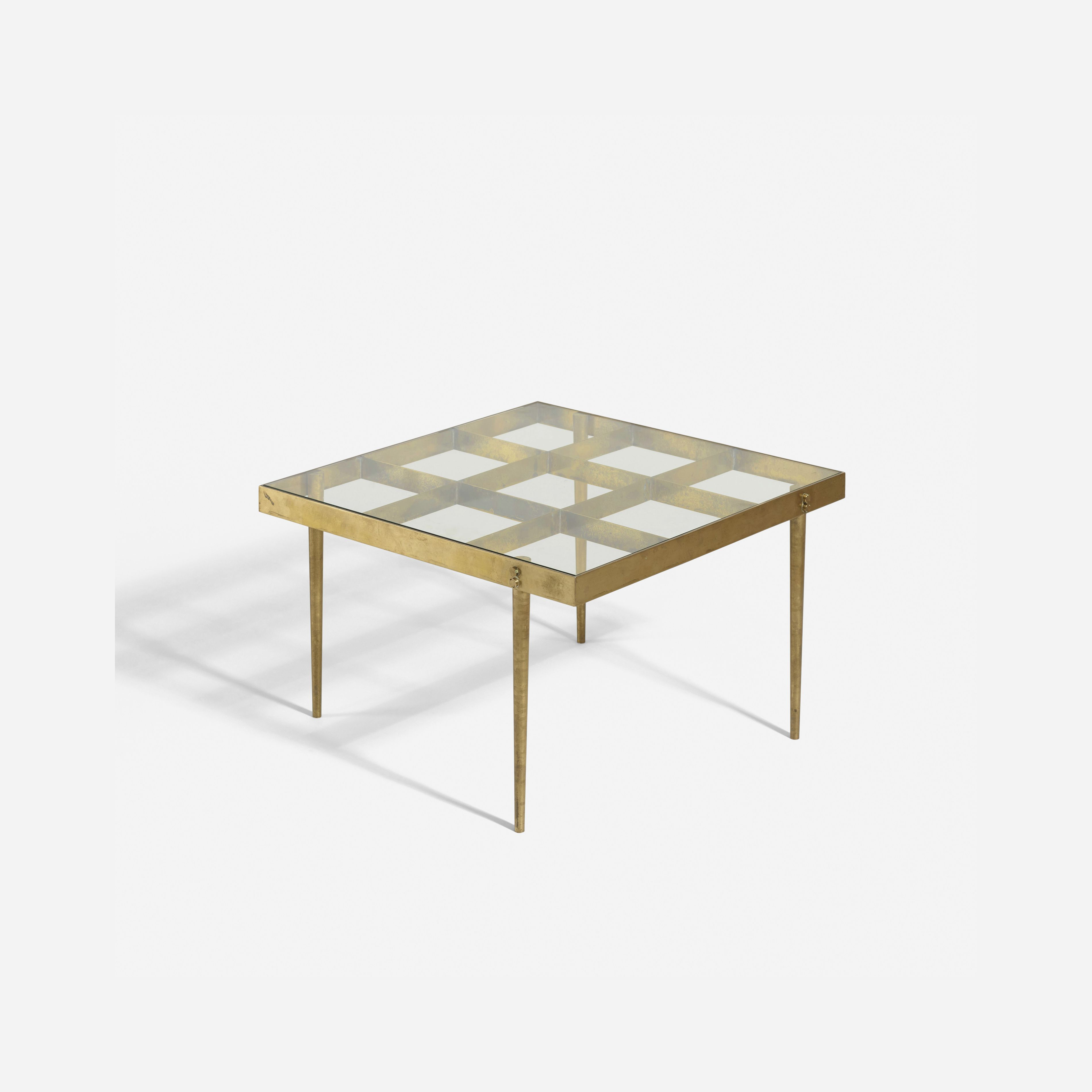 Lot 239 In the manner of Gio Ponti coffee table 1955 brass