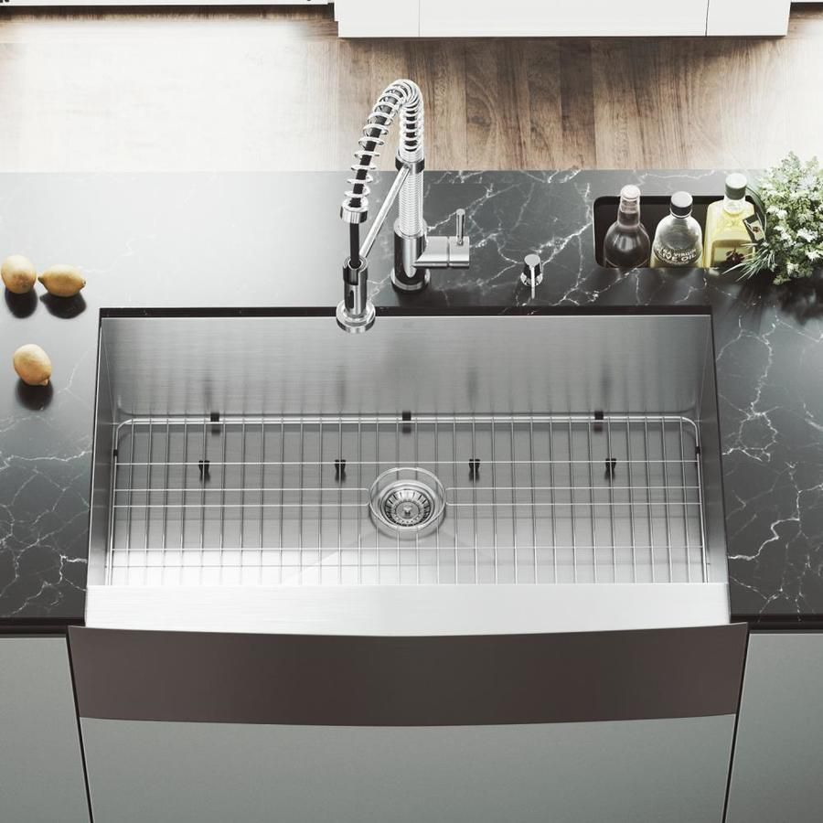 Vigo 22 25 In X 36 In Stainless Steel Single Basin Stainless Steel