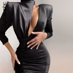 Photo of Cryptographic 2020 Spring New Fashion Black Mini Dress Women Sexy Cutouts Backless Date Night Party Club Satin Spliced Dresses (Cryptographic 2020 Spring New Fashion Black Mini) by www.irockbags.com