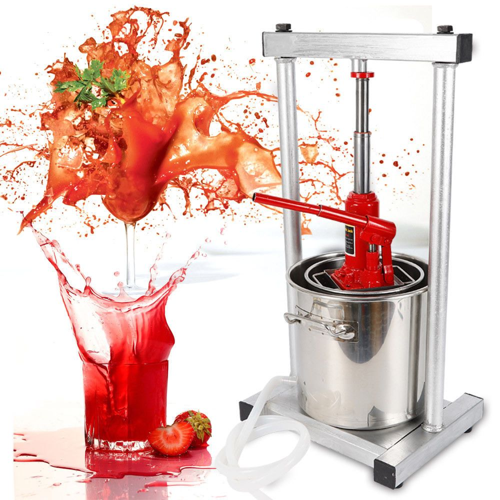 12l Fruit Wine Press Cider Making Apple Wine Juice Grinder W Hydraulic Jack Best Apple Wine Cider Making Wine Press